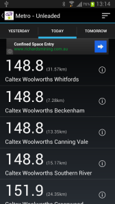 Fuel Watch app